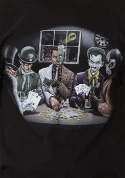 Batman Villains Playing Poker Men's T-Shirt-alt2