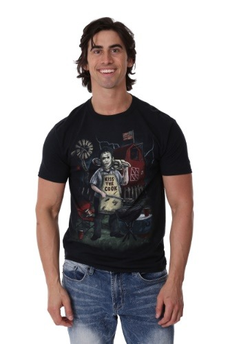 Texas Chainsaw Backyard BBQ Men's T-Shirt