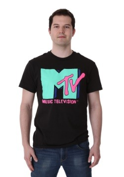 Men's Cyan MTV T-Shirt