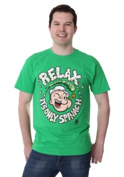 Men's Popeye Relax It's Only Spinach Green T-Shirt