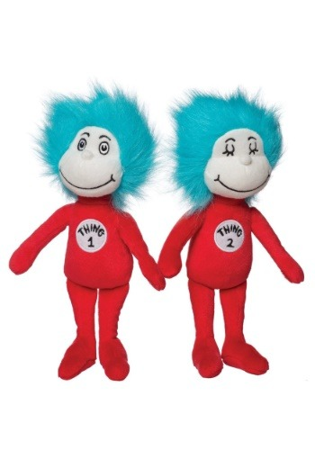 """Thing 1 & Thing 2 10"""" Stuffed Figure Set"""