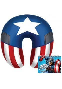 Captain America Neck Pillow & Journal