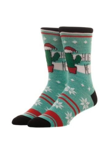 Free Authority Fairisle Hug Me Cactus Holiday Crew Socks