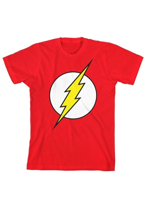 DC Comics Flash Boy's Glow In The Dark Tee