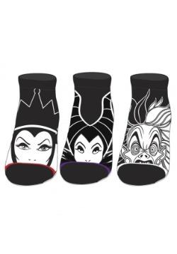 Disney Villains 3 Pack Ankle Socks