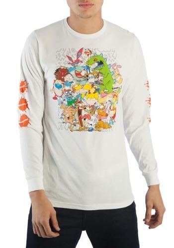 Nickelodeon 90s Characters Group Long Sleeve Tee