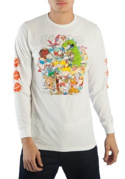 Nickelodeon 90s Characters Group Long Sleeve Tee