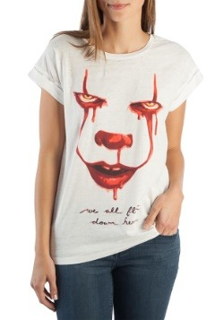 IT We All Float Down Here Women's Rolled Sleeve Tee