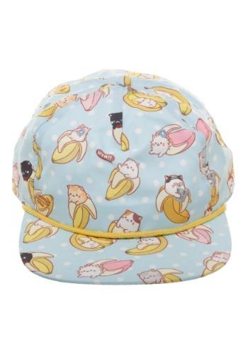 Bananya All-Over Sublimated Print Snapback Hat