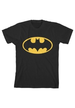 Batman Boy's Glow In The Dark Black Tee
