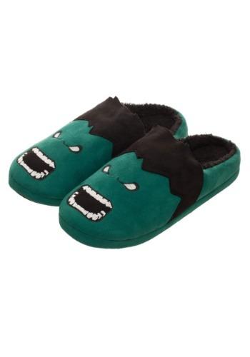 Adult Marvel Hulk 3D Scuff Slippers