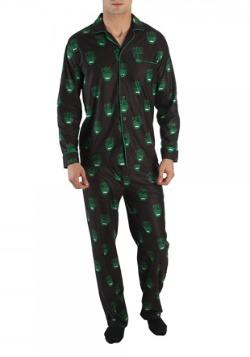Marvel Hulk All Over Print Men's Pajama Set