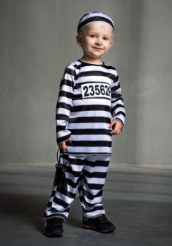 Striped Prisoner Toddler Costume