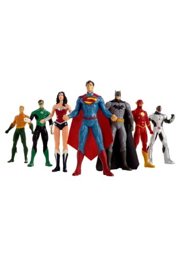 "New 52 Justice League 8"" Bendable Figure 7pc Box Set"