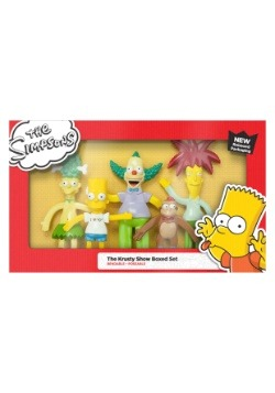 The Simpsons Krusty Show Boxed Bendable Figure Set