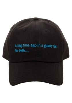 Star Wars A Long Time Ago Crawl Black Dad Hat