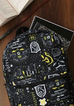 Harry Potter Icon Print Hufflepuff Backpack