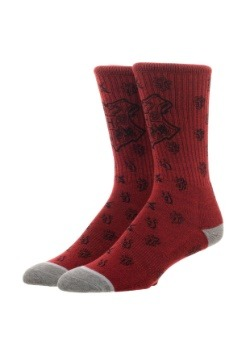 Harry Potter Hogwarts Waterprint Crew Sock1