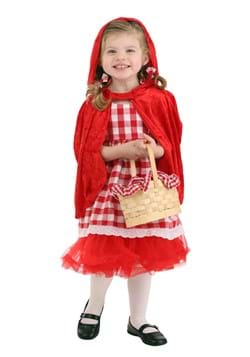 Toddler Girls Red Riding Hood Tutu Costume-Update