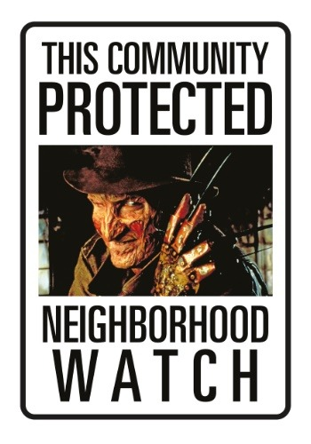 Nightmare on Elm Street Freddy Neighborhood Watch1