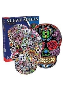 Sugar Skulls 600 Piece 2 Sided Shaped Puzzle