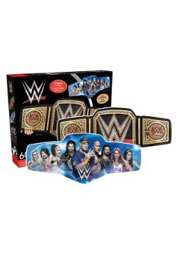 WWE Belt and Collage 600 Piece 2 Sided Shape Puzzle