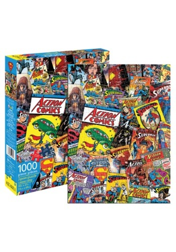 DC Comics Superman Collage 1000 Piece Puzzle