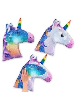 Reversible Sequin Unicorn Pillow