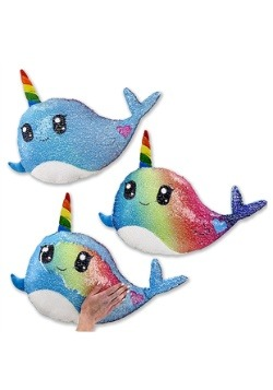 Reversible Sequin Narwhal Pillow Alt 1