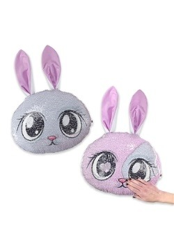 Reversible Sequin Bunny Pillow