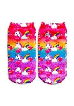 Unicorn Print Kids Ankle Sock