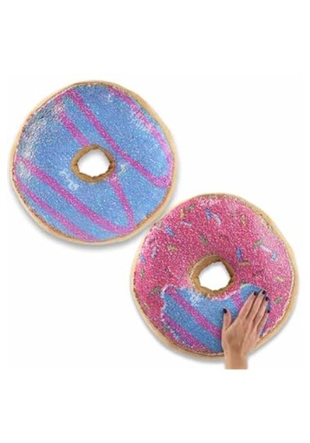 Reversible Sequin Pink/Blue Doughnut Pillow