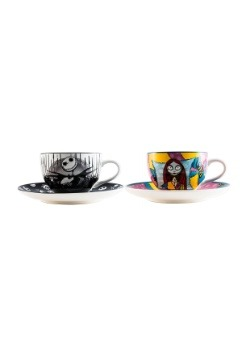 Nightmare Before Christmas Jack & Sally Tea Cup Set