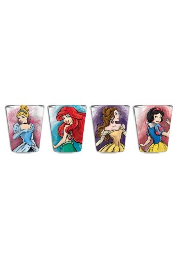 Disney Fashionista 4 pc Mini Glass Set