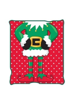 "Ugly Christmas Elf 50"" x 60"" Throw Blanket"