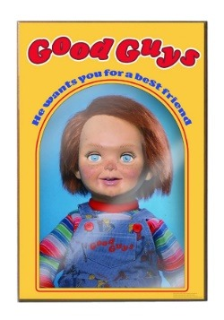 "Chucky Good Guys 13"" x 19"" Wood Wall Décor Art"