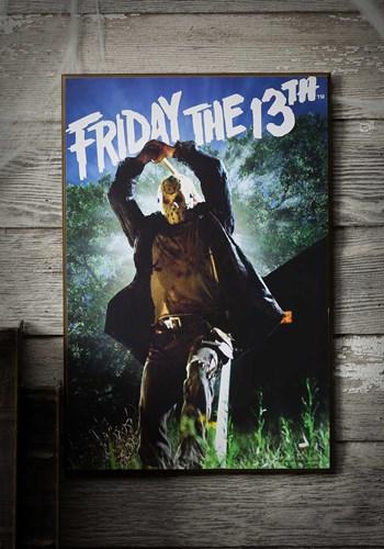 """Friday the 13th Wood Wall Décor 13"""" x 19"""" Art"""