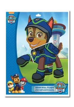 "Chase Paw Patrol 13"" 2-Layer Die Cut Plaque"