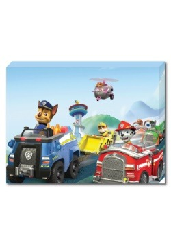 "Paw Patrol Group 12"" x 16"" portrait Canvas with LED"