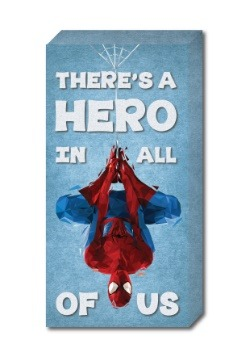 "Spider-Man 12"" x 24"" ''Hero' Inspirational Canvas"