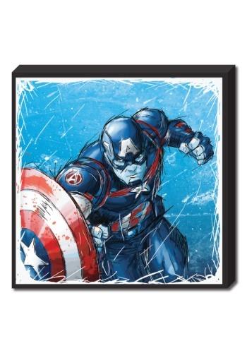 "Captain America Molded Foam Art 15""x15"""