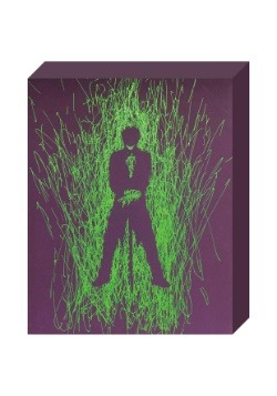 "Joker Silhouette Paint Splatter Canvas 16"" x 20"""