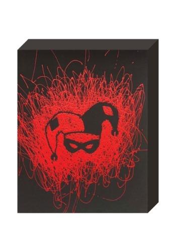 """Harley Quinn Face Paint Splatter Canvas 16"""" x 20"""""""