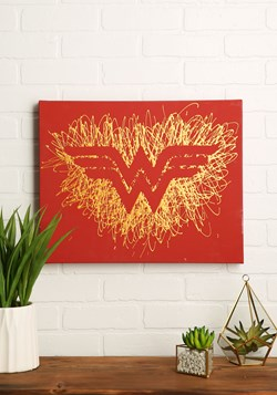 "Wonder Woman Logo Paint Splatter Canvas 16"" x 20"""