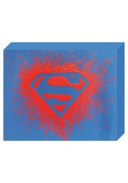 "Superman Logo Paint Splatter Canvas 16"" x 20"""