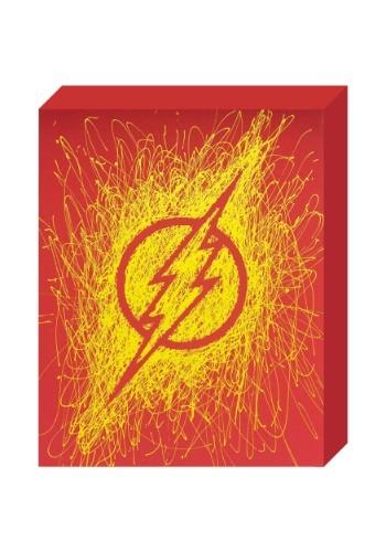 "The Flash Logo Paint Splatter Canvas 16"" x 20"""