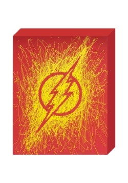 "The Flash Logo Paint Splatter Canvas 16"" x 20"""
