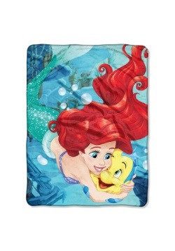 Little Mermaid Ariel Flounder Friend Super Soft Throw
