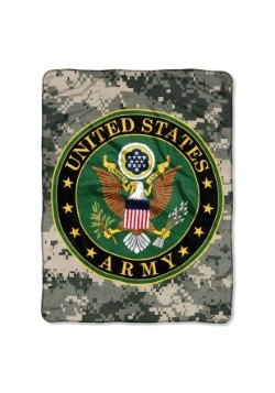 "Army Insignia 46"" x 60"" Super Soft Throw"