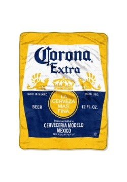 "Corona Bottle Label 46"" x 60"" Super Soft Throw"